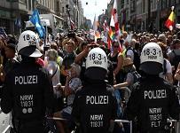 درگیریهای پلیس معترضین برلین
