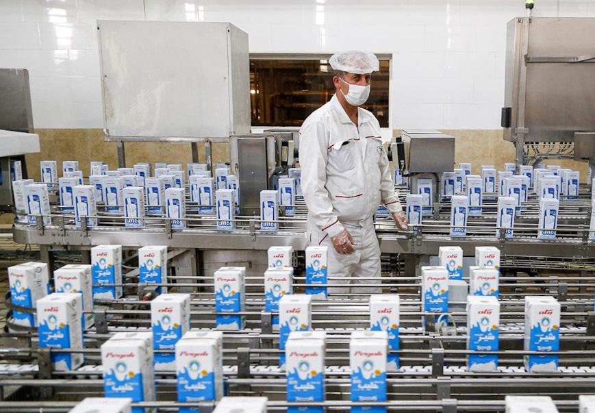 شرکت پگاه تهران ظرفیت اسمی ظرفیت عملی تولید