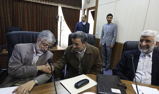 بوسبیدن دست فرح دروغ چندش آور شکایت از احمدی نژاد حداد عادل