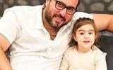 عکس جالب محسن کیایی و دخترش رز