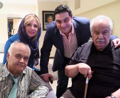 اکبر عبدی در کنار ناصر ملک مطیعی و خوانندگی ایرج