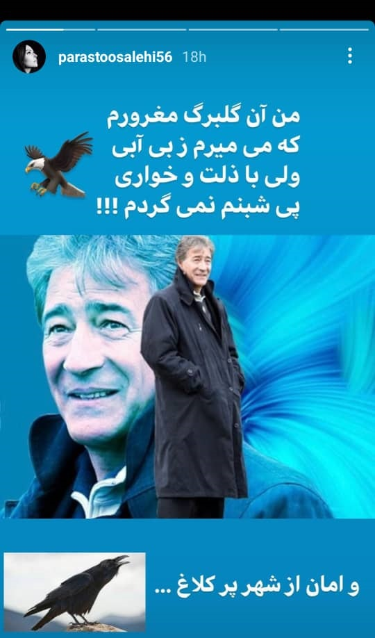 استوری پرستو صالحی درباره ناصر حجازی