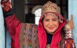 سیما تیرانداز در لباس ترکمنی